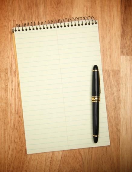 steno and pen
